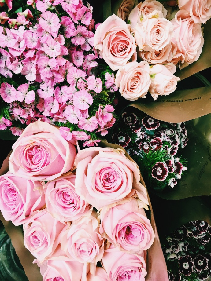 Find an excuse to give pink roses to someone!